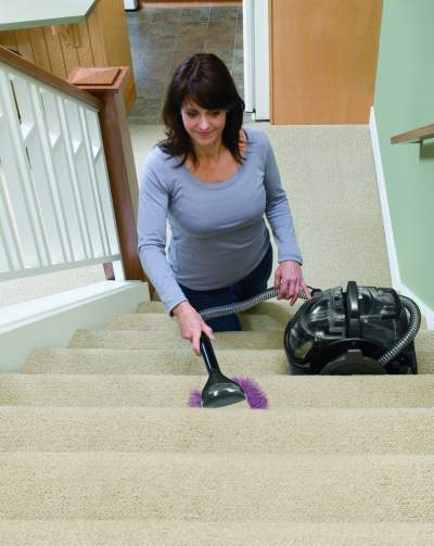 Stair cleaning tool